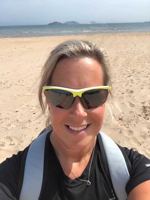 Vicky Grant training on the East Lothian beaches