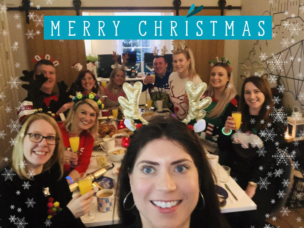 The Dragonfly Agency Christmas staff photo