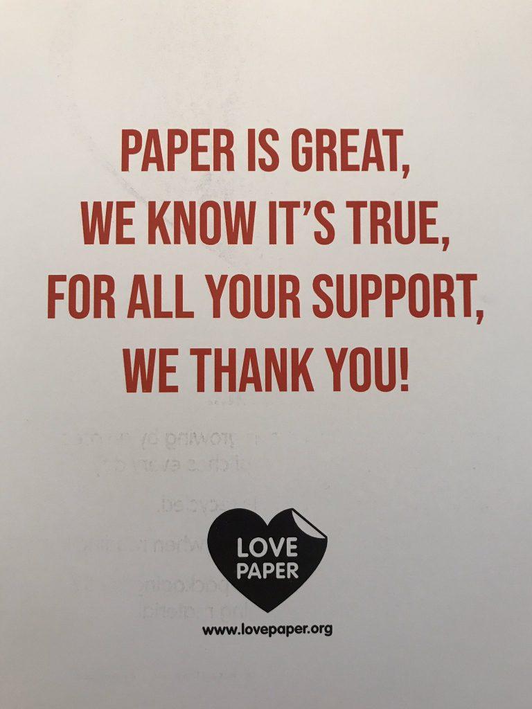Love Paper campaign